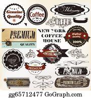 Coffee-House - Vector Set Of Retro Grunge Labels Premium Quality