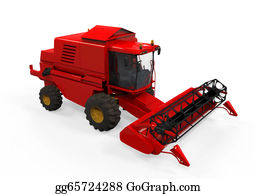 Food-Truck - Combine Harvester Isolated