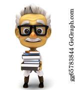 Professor - Professor With Stack Of Books