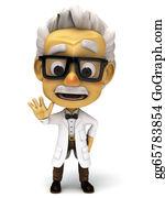 Professor - 3d Professor Looking Mad