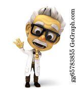 Professor - 3d Render Professor Give Direction