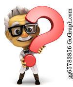 Professor - Professor With Question Mark Symbol