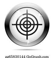 Bullseye - Black And White Icon