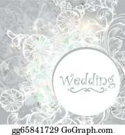 Vintage-Floral-Blue-Frame-Vector - Cute Wedding Background In Blue Color