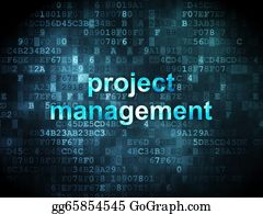 Management - Business Concept: Project Management On Digital Background