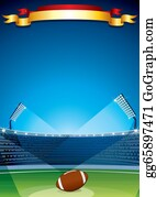 Football-Abstract - American Football, Rugby Stadium. Design Template