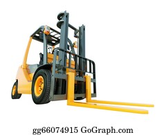 Tow-Truck - Forklift Truck Isolated