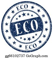 Eco-Friendly-Label - Eco Blue Stamp