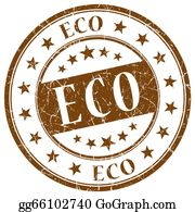 Eco-Friendly-Label - Eco Brown Stamp