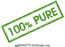 Eco-Friendly-Label - 100% Pure Green Square Stamp