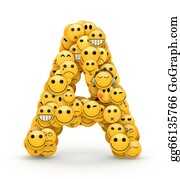 Emotions - Emoticons Letter A