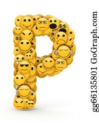 Emotions - Emoticons Letter P