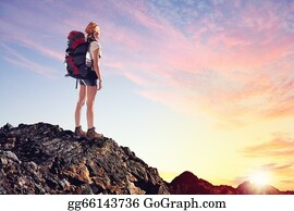 Rock-Climbing-Woman - Young Woman Mountaineer