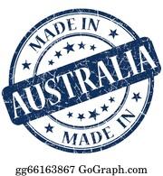 Australia - Made In Australia Blue Stamp