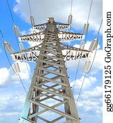 Power-Transmission-Line - High-Voltage Tower