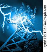 Power-Transmission-Line - Lightning Strike
