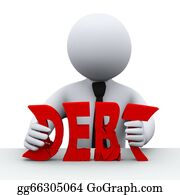 Government-And-Economy - 3d Person Debt Free Concept