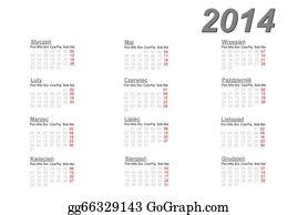 Calendar-For-January-2014 - Polish Calendar For 2014
