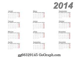Calendar-For-January-2014 - Hungarian Calendar For 2014