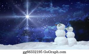Melting-Snowman - Christmas Snowmen With White Star