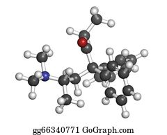 Atoms - Methadone Opioid Dependency Drug, Chemical Structure.
