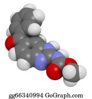Nematode - Mebendazole Anthelmintic Drug, Chemical Structure.