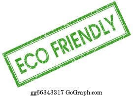 Eco-Friendly-Label - Eco Friendly Green Square Stamp