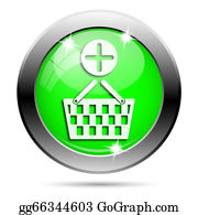 Basket - Metallic Green Glossy Icon