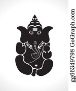 Ganesha - Abstract Ganesh Silhouette