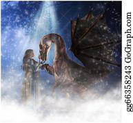 Legend - Elf And Dragon