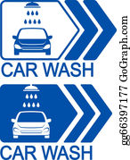 Wash - Car Wash Icon With Arrow