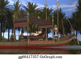 Pharaoh - Egyptian Woman And Boat