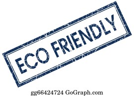 Eco-Friendly-Label - Eco Friendly Blue Square Stamp