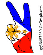 Negro - Peace Sign Of The Philippine Flag