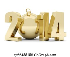 Happy-New-Year-2014 - Happy New Year 2014 Illustrations 3d