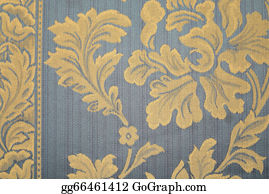 Vintage-Floral-Blue-Frame-Vector - Blue Rug With Yellow Flowers