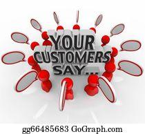 Say - Your Customers Say Satisfaction Feedback Happiness Rating