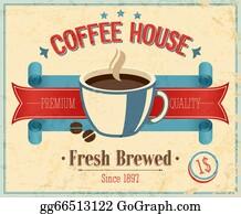 Coffee-House - Vintage Coffee House Card.