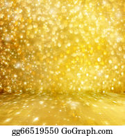 Falling-Snow-Background - Abstract Golden Background With Effect Bokeh For Design