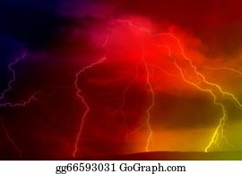 Lightning-Bolt - Lightning Bolt At Night - Illustration