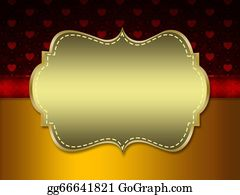 Golden-Love-Hearts - Hearts Pattern And Golden Tag