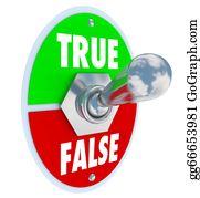 Honesty - True Vs False Toggle Switch Choose Honesty Sincerity