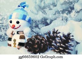 Melting-Snowman - Xmas Funny Backgrounds For Your Design