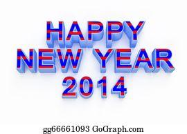 Calendar-For-January-2014 - New Year 2014 3d Render