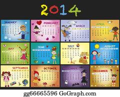 Months-Of-The-Year - Calendar 2014