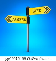One-Direction-Road-Sign - Career Or Life. Concept Of Choice.