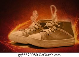 Flaming-Basketball - Canvas Shoes On Fire