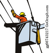 Stock Illustration - Power lineman electrician. Clipart gg66743207 ...