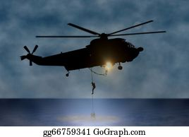 Helicopter - Rescue Of The Person At Sea