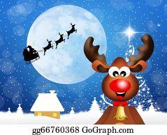 Reindeer-Christmas-Silhouettes - Reindeer At Christmas